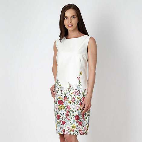 Rocha.John Rocha - Designer ivory floral shift dress