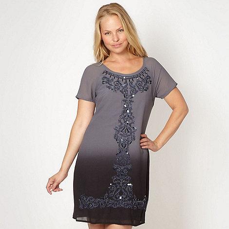 RJR.John Rocha - Designer grey graduating embellished dress