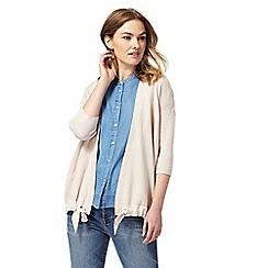RJR.John Rocha - Natural pointelle tied hem cardigan