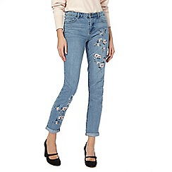 RJR.John Rocha - Blue floral girlfriend jeans