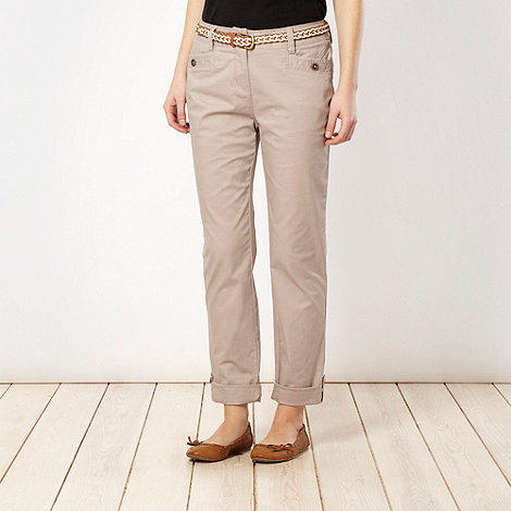 RJR.John Rocha - Light pink belted chino trousers
