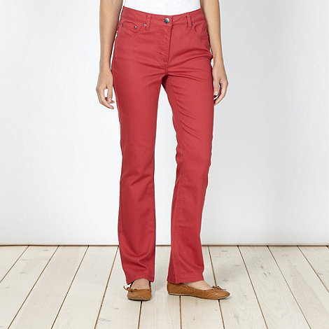 RJR.John Rocha - Designer dark red straight leg jeans