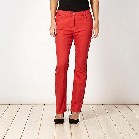 Rocha.John Rocha - Shape enhancing dark peach straight leg jeans