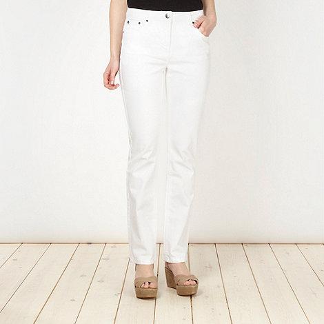 RJR.John Rocha - Shape enhancing white straight leg jeans