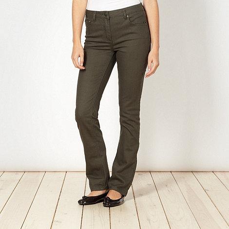 RJR.John Rocha - Shape enhancing khaki straight leg jeans