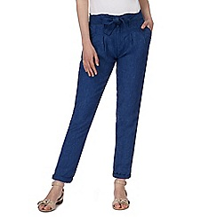 RJR.John Rocha - Blue linen trousers