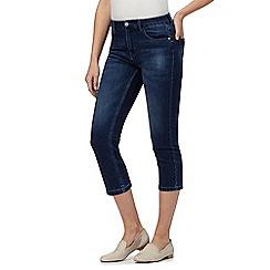 RJR.John Rocha - Blue mid wash 'Elsa' straight leg cropped jeans