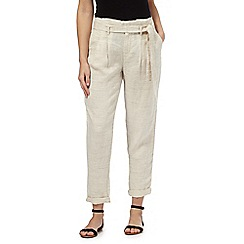 RJR.John Rocha - Natural linen paper bag trousers
