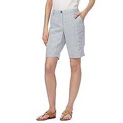 RJR.John Rocha - Light blue pure linen shorts