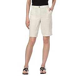RJR.John Rocha - Cream pure linen shorts