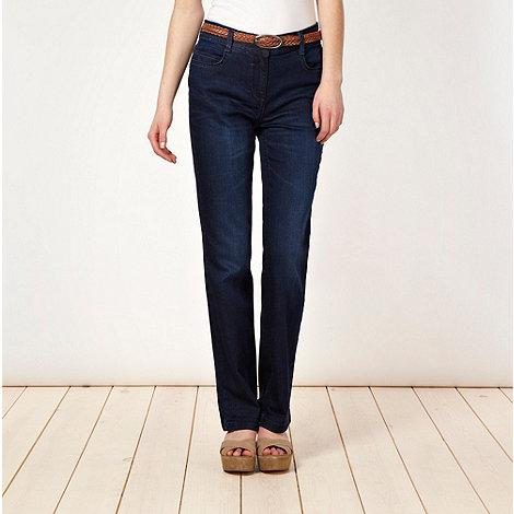 RJR.John Rocha - Designer dark blue straight leg jeans