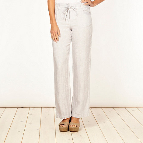 RJR.John Rocha - Designer grey striped linen trousers