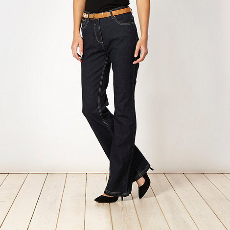 RJR.John Rocha Petite - Petite shape enhancing dark blue flattening bootcut jeans