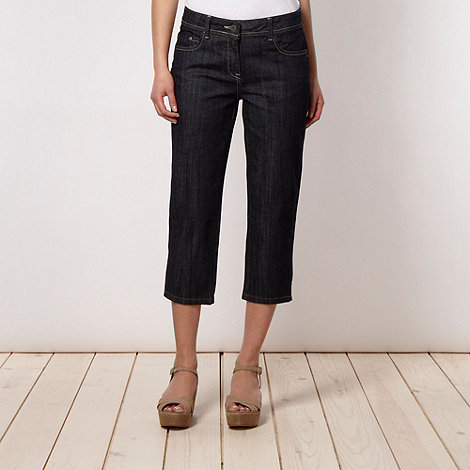 RJR.John Rocha - Designer dark blue cropped denim trousers