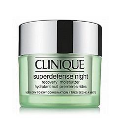 Clinique - 'Superdefense' night recovery moisturiser 50ml