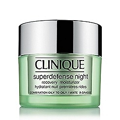 Clinique - 'Superdefense' night recovery moisturiser 50ml