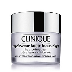 Clinique - Repairwear Laser Focus Night Line Smoothing Cream - Very Dry to Dry Combination