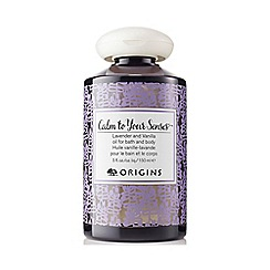 Origins - 'Calm To Your Senses' Lavender and Vanilla bath & body oil 150ml