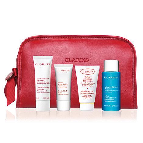 Clarins Red Beauty Bag Gift Set Debenhams