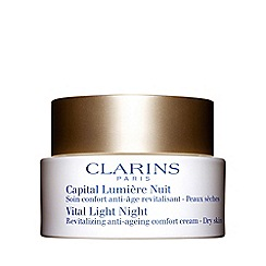 Clarins - Vital light night revitalising anti-ageing cream for dry skin 50ml