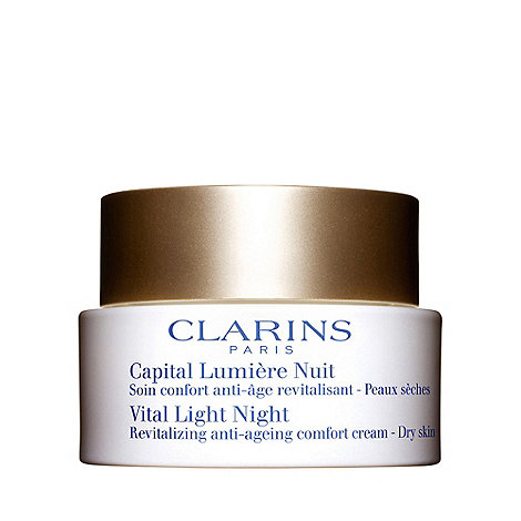 Clarins - Vital light night+ revitalising anti ageing cream 50ml