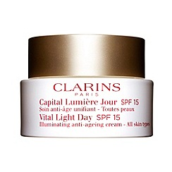 Clarins - Vital light day SPF 15 illuminating anti-ageing comfort cream for all skin types 50ml