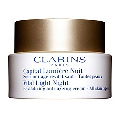 Clarins - Vital light night revitalizing anti-ageing comfort cream for all skin types 50ml