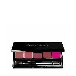 MAKE UP FOR EVER - 'Rouge Artist' cool beige lip palette 5 x 0.8g