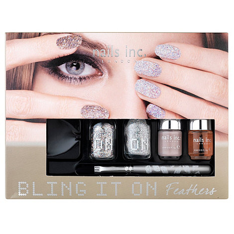 Nails Inc. - Nails inc Bling it On Feathers collection Gift Set
