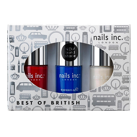 Nails Inc. - +Best Of British+ nail polish gift set