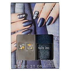 Nails Inc. - Bling It On Denim & Studs collection gift set