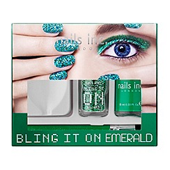 Nails Inc. - Bling It On Emerald collection gift set