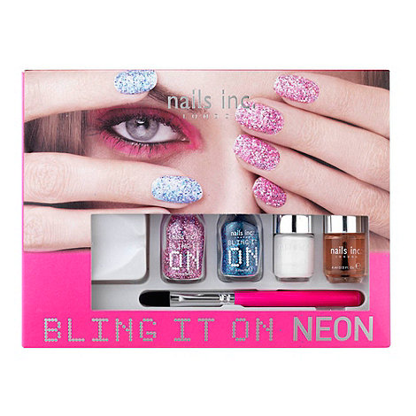Nails Inc. - +Bling It On+ neon nails gift set