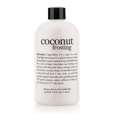 Philosophy - Coconut Frosting Shampoo, Shower Gel & Bubble Bath 480ml