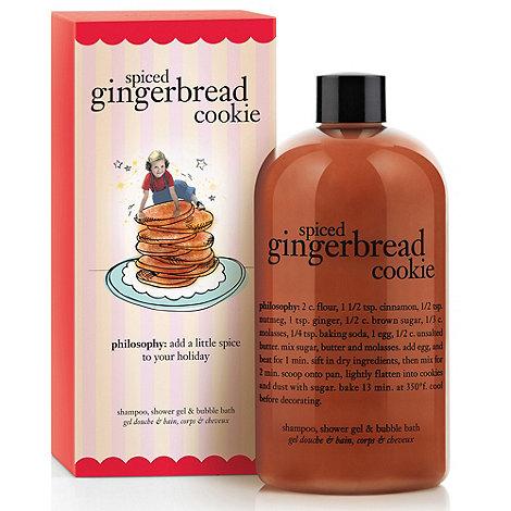 Philosophy - Spiced gingerbread cookie shampoo, shower gel & bubble bath 480ml