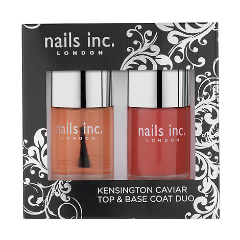 Nails Inc. - Kensington caviar top and base coat duo