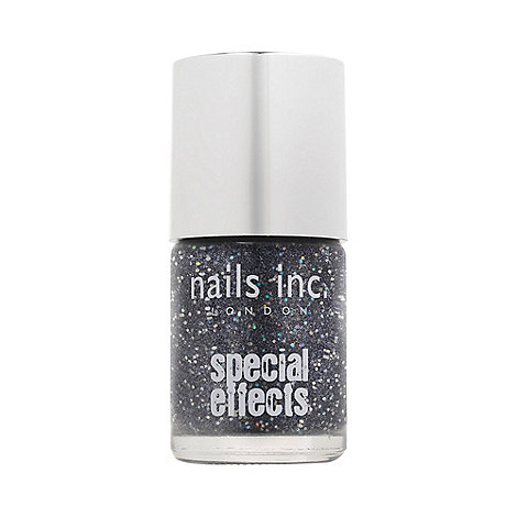 Nails Inc. - Special effects - Sloane Square black 3D glitter Nail Polish 10ml