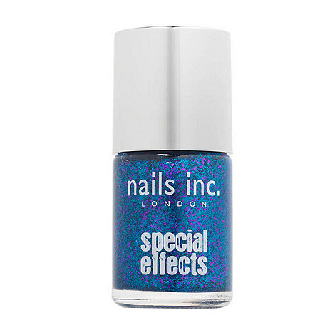 Nails Inc. - Special effects - Connaught Square blue 3D glitter Nail Polish 10ml