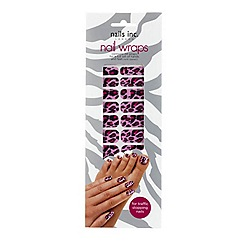 Nails Inc. - Pink Cheetah nail wraps