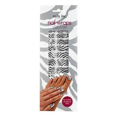 Nails Inc. - Black and white zebra nail wraps