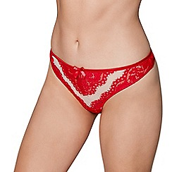Gorgeous DD+ - Red floral lace 'Ruby' thong