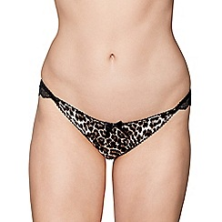 Gorgeous DD+ - Black animal print 'Myra' Brazilian knickers