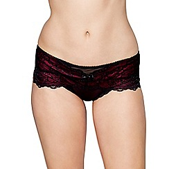 Gorgeous DD+ - Dark purple lace 'Solene' thong
