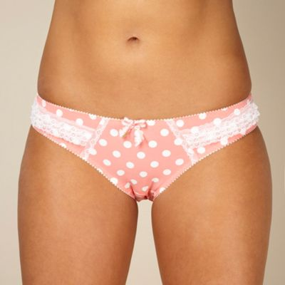 Peach spotted high leg briefs