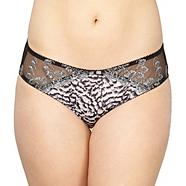 Black lace trim briefs