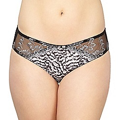 Gorgeous DD+ - Black lace trim briefs