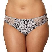 Grey floral and striped briefs