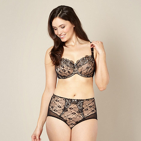 Gorgeous DD+ - Black lace embroidered bra