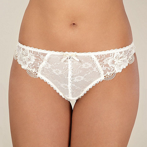 Gorgeous DD+ - Ivory lace bridal thong
