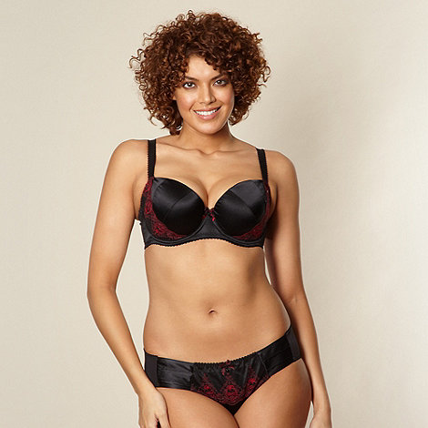 Gorgeous DD+ - Black D-G cup silk padded bra